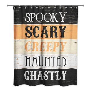 Halloween Words Single Shower Curtain