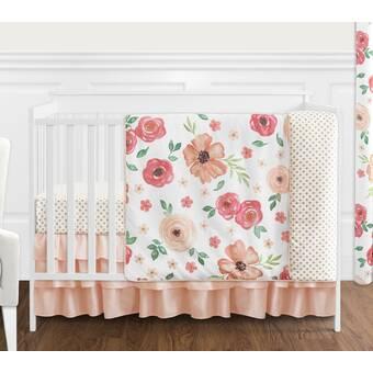 Sweet Jojo Designs Botanical Floral Leaf 4 Piece Crib Bedding Set Reviews Wayfair