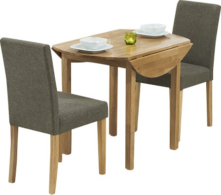Horatio Round Folding Dining Set with 2 Chairs Three Posts
