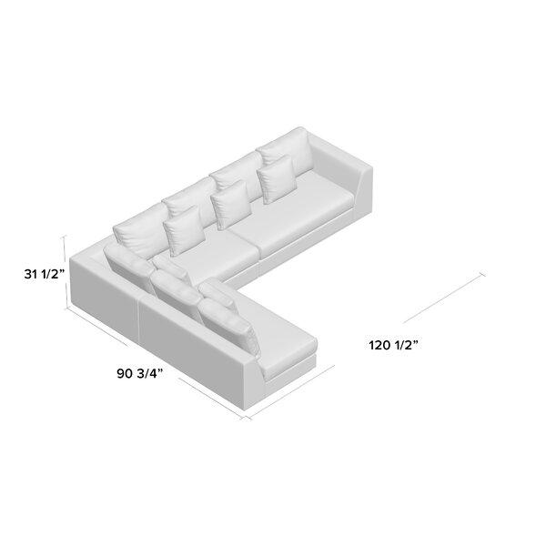 "Moore Living 120.5"" Modular Sectional"