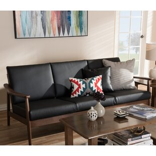 Leaman Mid-Century Modern Faux Sofa