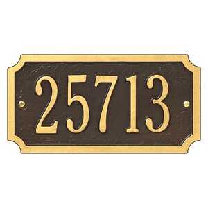 1-Line Wall Address Plaque