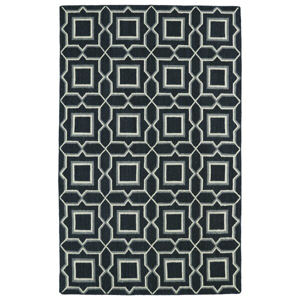 Winston Porter Gillespie Black Geometric Area Rug Reviews Wayfair