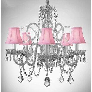 Kamen Swarovski 5-Light Shaded Chandelier by House of Hampton