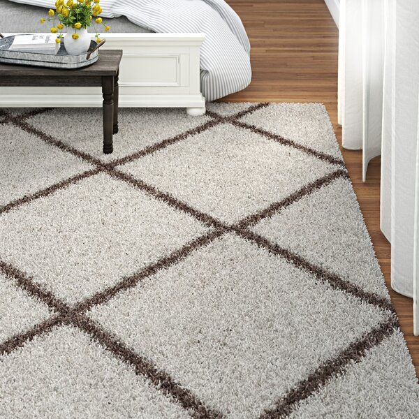 Three Posts Statesboro Geometric Ivory Brown Area Rug Reviews Wayfair