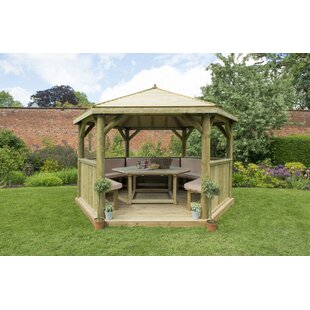 Furnished 4.3m X 3.7m Wooden Gazebo With Timber Roof Image