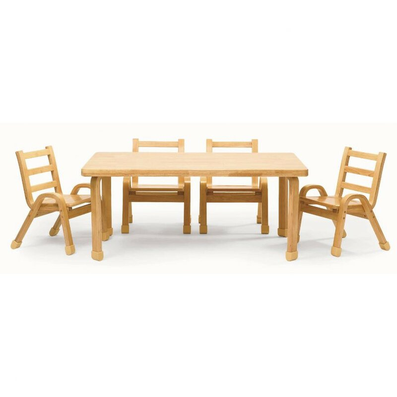 NaturalWood 12  Rectangle Toddler Table and Chair Set. Angeles NaturalWood 12  Rectangle Toddler Table and Chair Set
