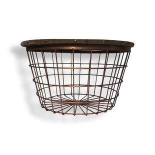 Rolen Large Wire Basket End Table (Set of 2) by Bloomsbury Market