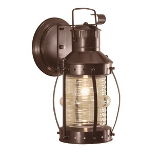 Price Check Juliette 1-Light Outdoor Wall Lantern By Breakwater Bay