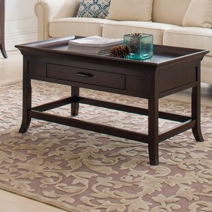 Clermont Tray Edge Coffee Table with Tray Top