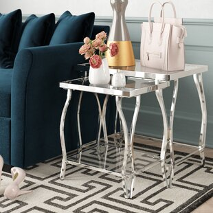 Edda 2 Piece Nesting Tables by House of Hampton