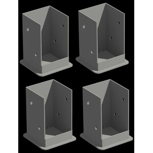Pergola Bolt-Down Brackets (Set Of 4) By Symple Stuff