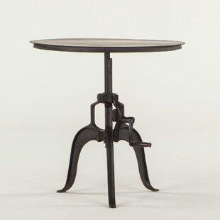 Hackett Adjustable Metal End Table