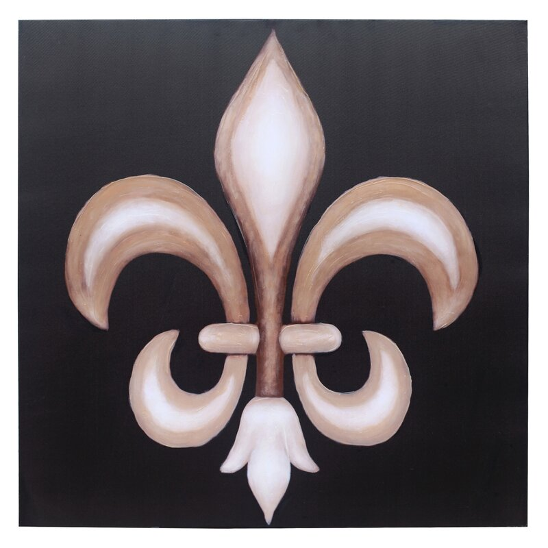 'Fleur De Lis' Painting Print on Canvas