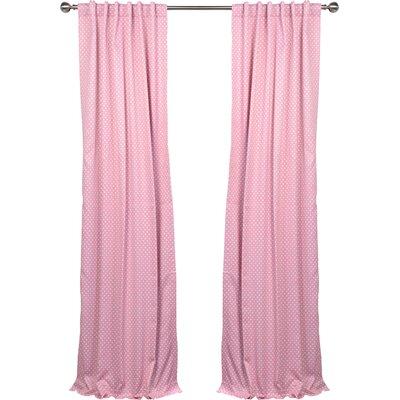 Half Price Drapes Polka Dots Blackout Thermal Rod Pocket Single Curtain Panel