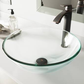 Ronbow Brit Ceramic Circular Vessel Bathroom Sink Wayfair Ca