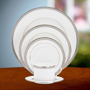 Lace Couture Bone China 5 Piece Place Setting, Service for 1