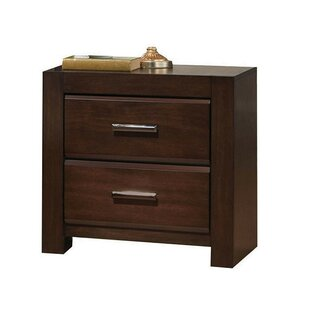 Maren Wooden 2 Drawer Nightstand