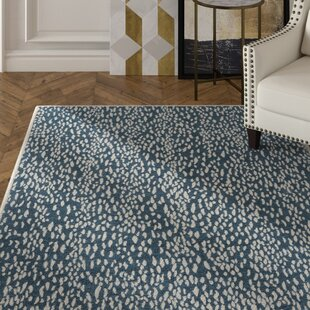 Ankit Hand Tufted Blue Area Rug byEverly Quinn