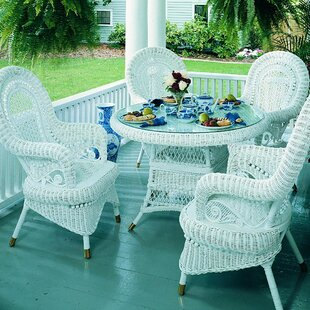 Spice Islands Wicker Country 5 Piece Dining Set