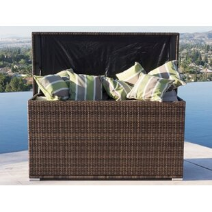 Anita All Weather Outdoor Wicker Deck Box by Direct Wicker