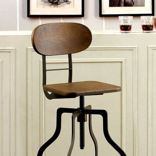 Tracie Height Adjustable Swivel Bar Stool Williston Forge
