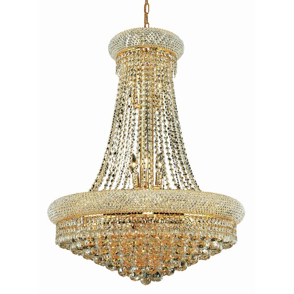 Greyleigh Rozella 14 Light Statement Empire Chandelier With Crystal Accents Reviews Wayfair