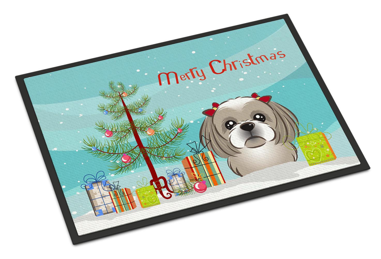 Caroline\'s Treasures Christmas Tree Shih Tzu Doormat | Wayfair