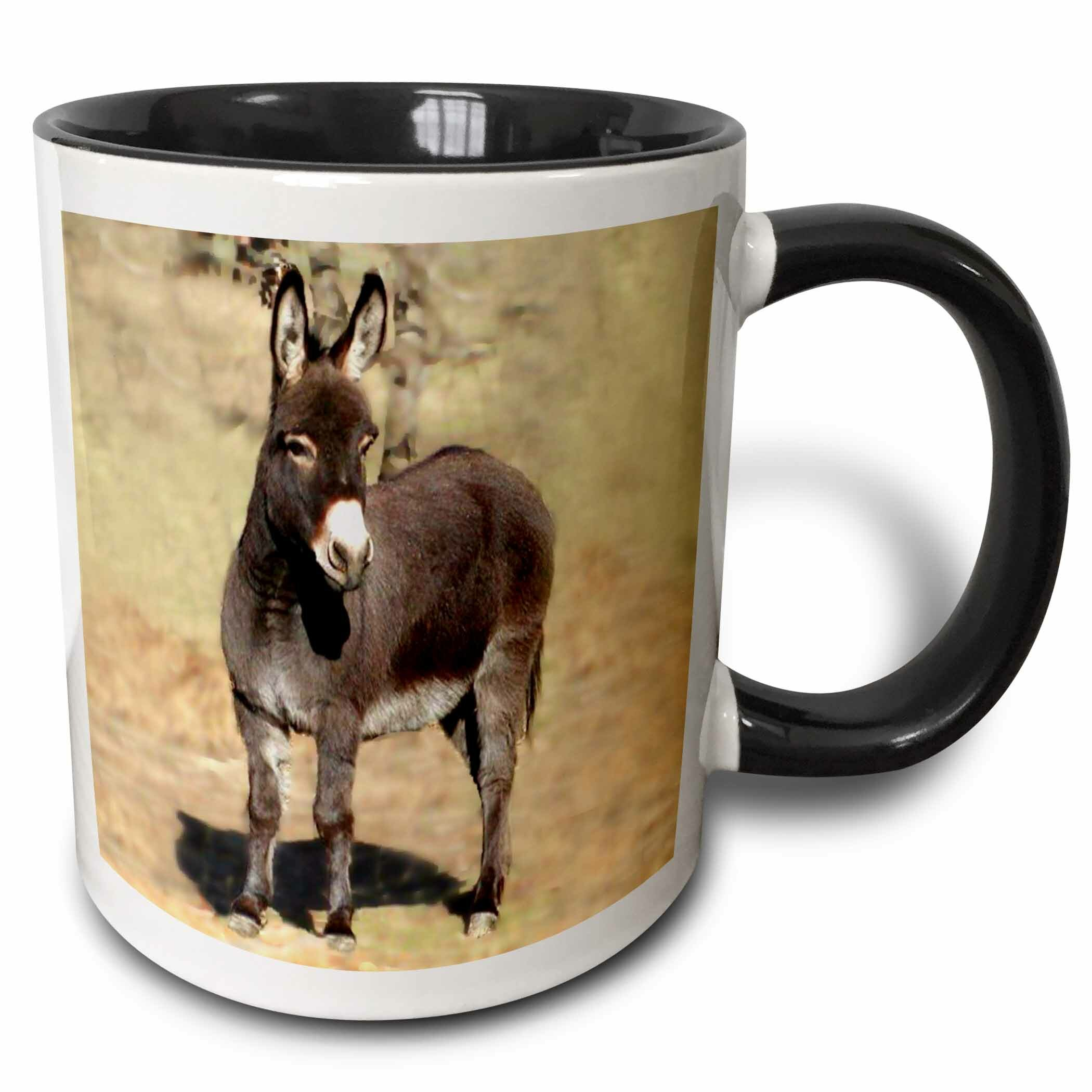 Donkey on Ranch White Mug