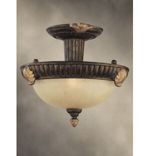 Willingham 2-Light Semi Flush Mount by Fleur De Lis Living