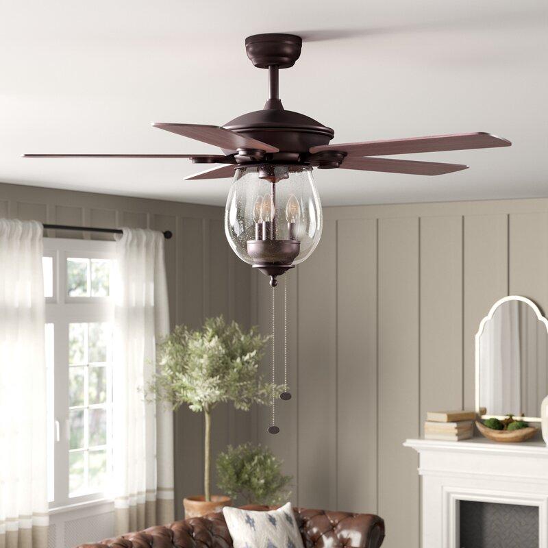 Rueben 5 Blade Ceiling Fan, Light Kit Included