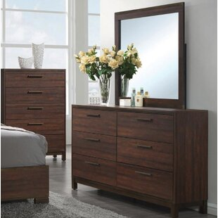 Union Rustic Jeffries 6 Drawer Double Dresser with Mirror Image