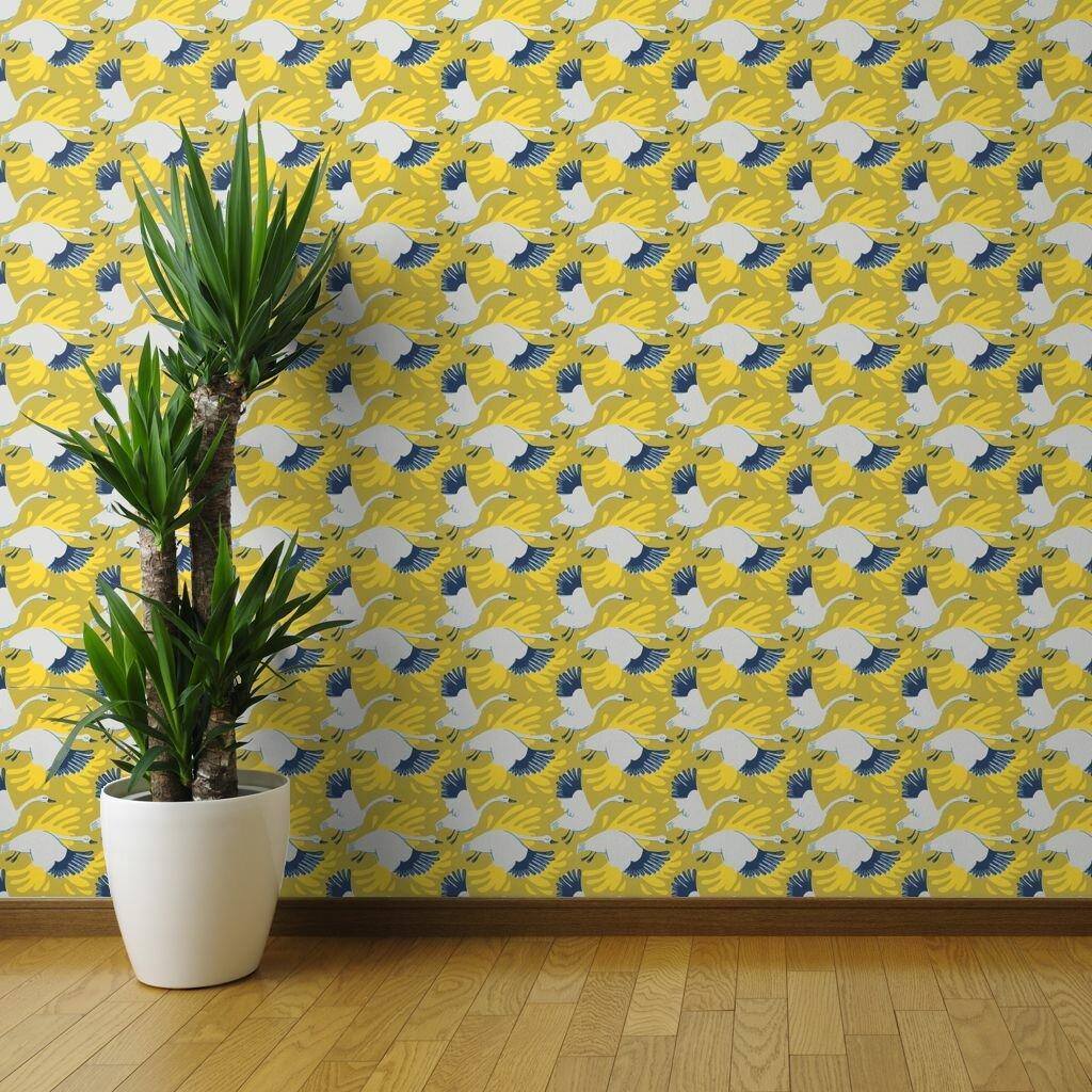Spoonflower 1 L X 24 W Peel And Stick Wallpaper Panel Wayfair