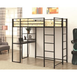 Bluxome Twin Loft Bed with Bookcase ByHarriet Bee