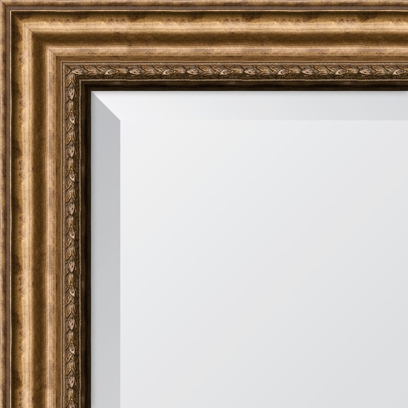 Astoria Grand Mccleskey Antique Gold Resin Frame Wall Mirror Reviews Wayfair