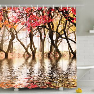 Milsom Reflection of Spring Print Shower Curtain