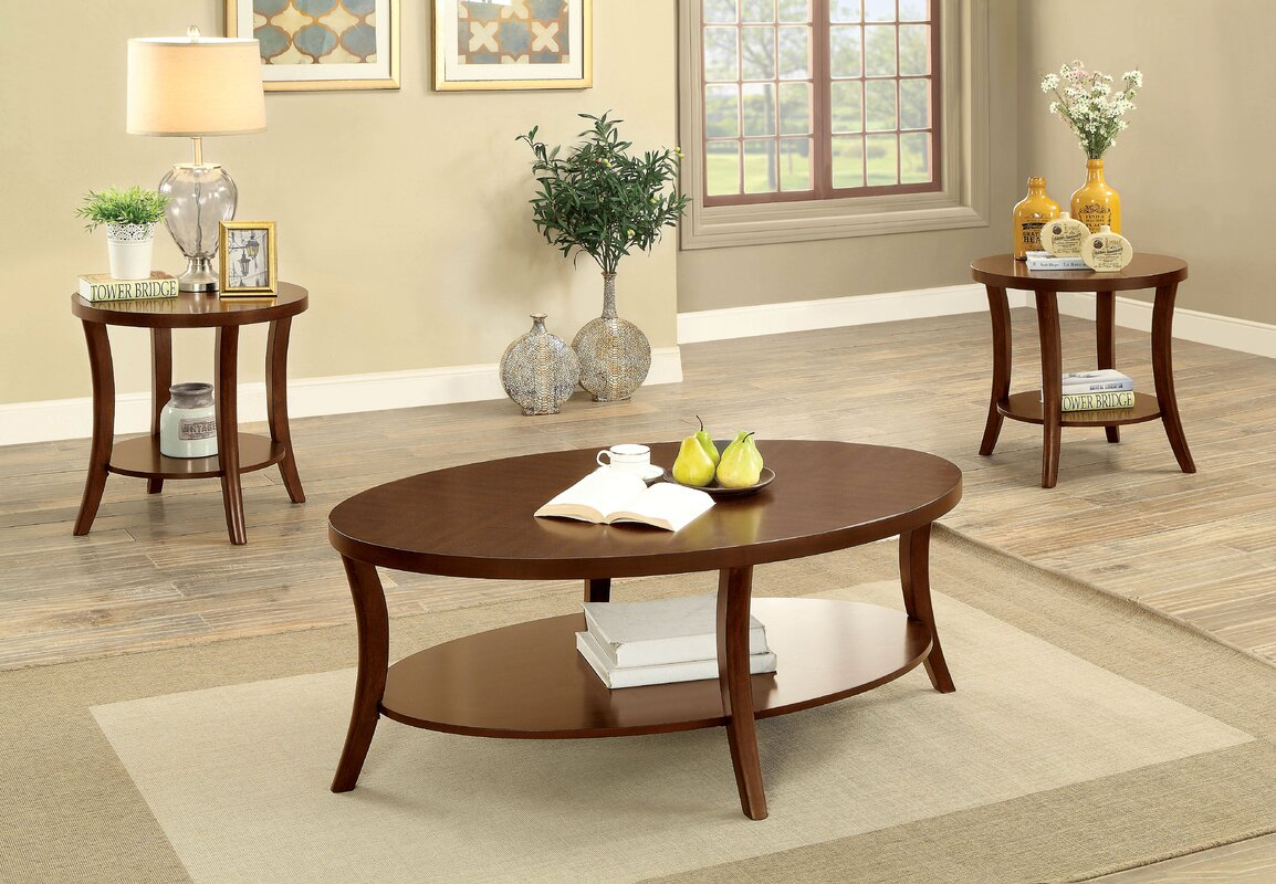 Transitional coffee table - Ohlman Transitional 3 Piece Coffee Table Set
