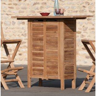 Hirsh Teak Bar Table By Sol 72 Outdoor