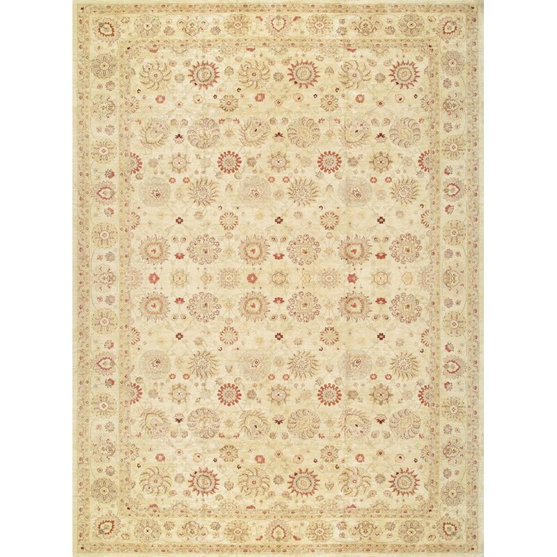 Pasargad One Of A Kind Ferehan Hand Knotted 2010s 14 X 19 Wool Area Rug In Beige Perigold