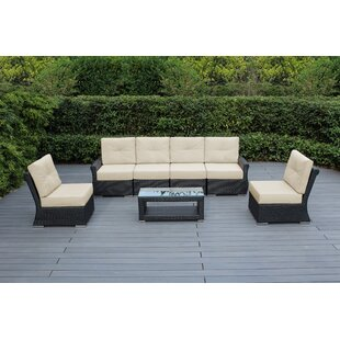 Amayah Luxe 7 Piece Rattan Sofa Seating Group with Sunbrella Cushions