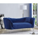 Mayne Velvet Chesterfield 80.7 Rolled Arm Sofa by Mercer41