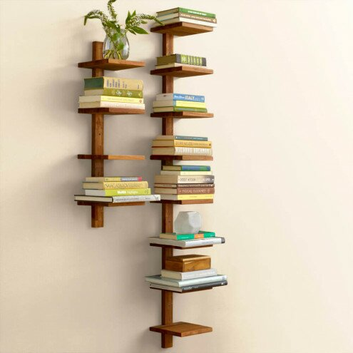Alyn Teak Column Wall Shelf
