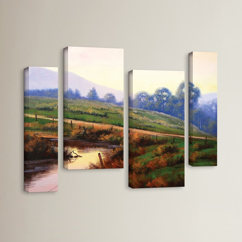 Red Barrel Studio Afternoon Glow 4 Piece Painting Print On Wrapped Canvas Set Wayfair