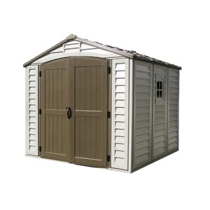 DuraPlus 8 ft. 1 in. W x 8 ft. 1 in. D Plastic Storage Shed