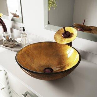 Savings Glass Circular Vessel Bathroom Sink ByVIGO