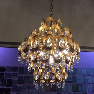 Rosdorf Park Donovan 4-Light Crystal Chandelier