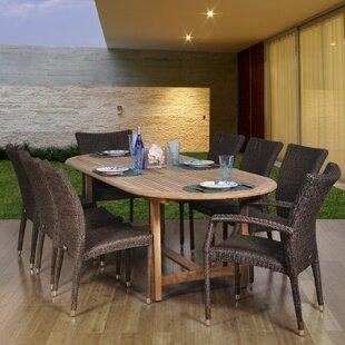 Beachcrest Home Elsmere 9 Piece Teak Dining Set
