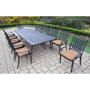 Vandyne 13 Piece Dining Set with Cushions by Darby Home Co