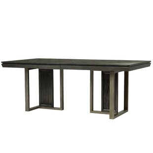 17 Stories Diehl Solid Wood Dining Table