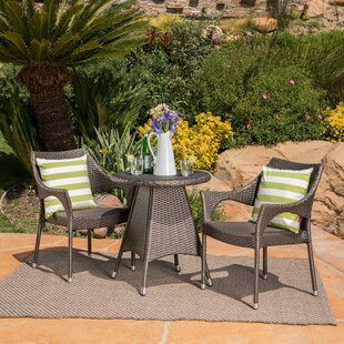 Wrought Studio Tulane 3 Piece Wicker Bistro Set